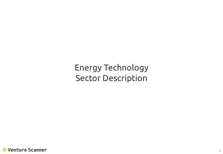 Energy Technology Q1 2017 Sector Overview
