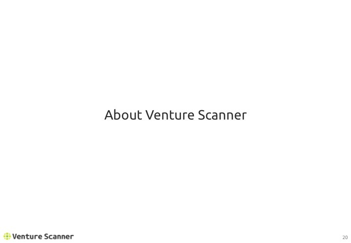 Artificial Intelligence Q1 2017 About Venture Scanner