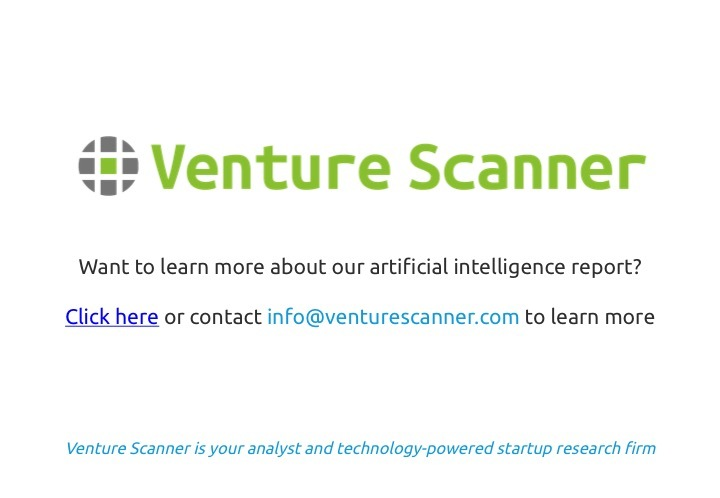 Artificial Intelligence Q1 2017 Venture Scanner Contact Info