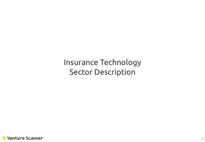 Insurtech Q2 2017 Sector Description