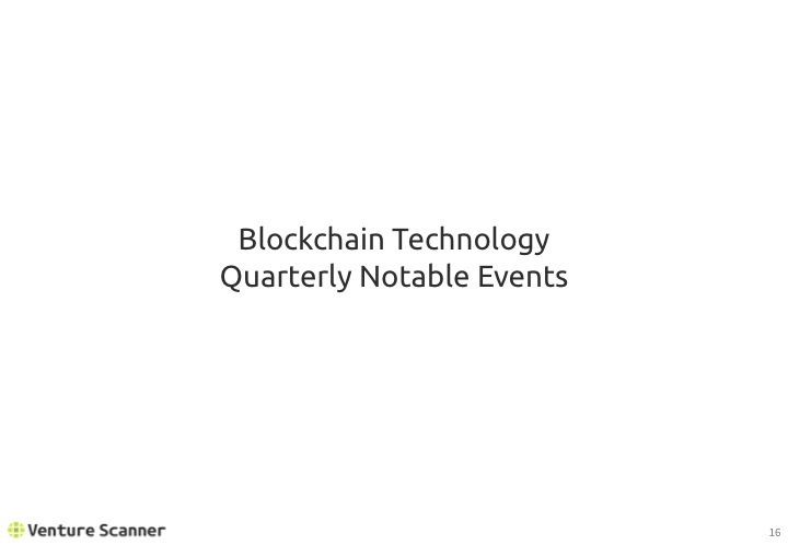 Blockchain Tech Q2 2017 Recent Events