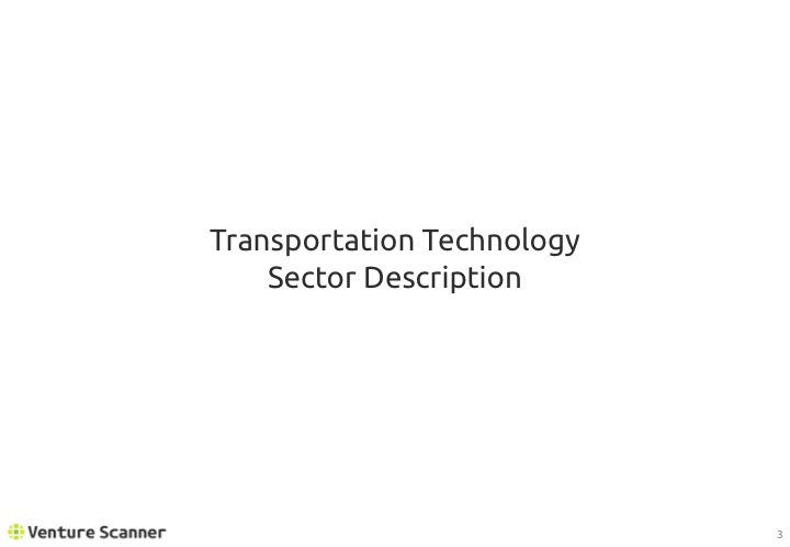 Transportation Tech Q2 2017 Sector Overview