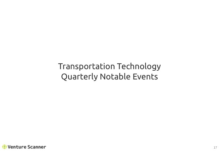 Transportation Tech Q2 2017 Recent Events
