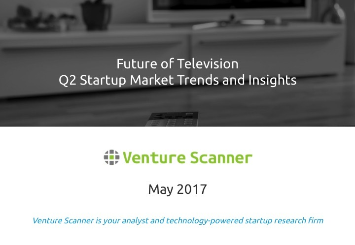 Future of TV Q2 2017 Startup Market Report