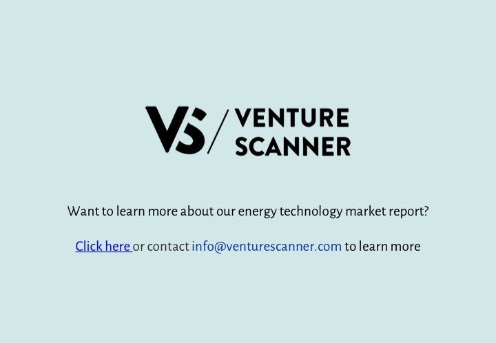 Energy Tech Q2 2017 Venture Scanner Contact Info