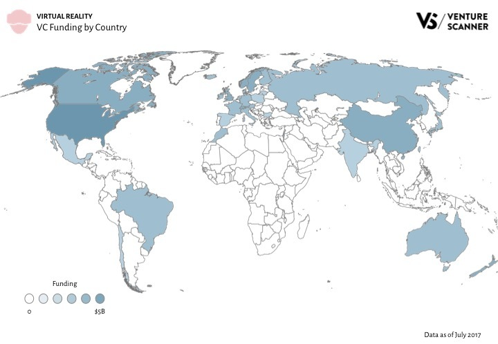 VR Q3 2017 VC Funding by Country