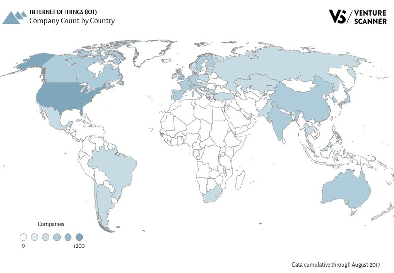 Internet of Things Company Count by Country