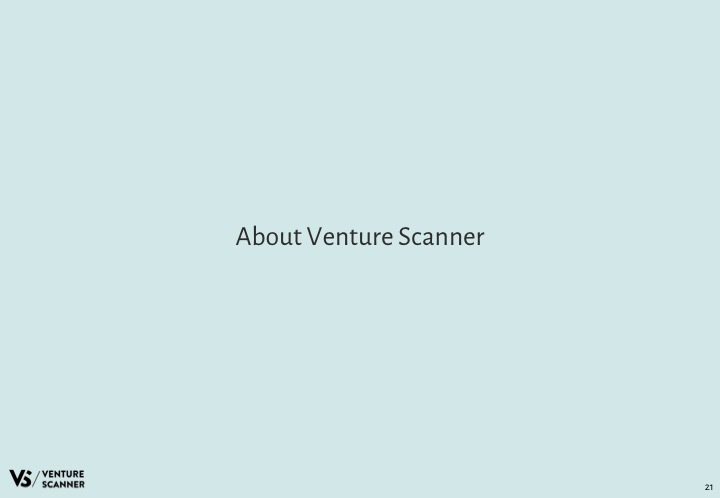 AI Q4 2017 About Venture Scanner